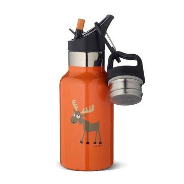 Carl Oscar TEMP Bottle - Butelka termiczna ze słomką ze szlachetnej stali nierdzewnej Orange - Moose CARL OSCAR