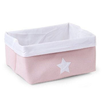 CHILDHOME - Pudełko płócienne 40 x 32 x 20 cm Soft Pink