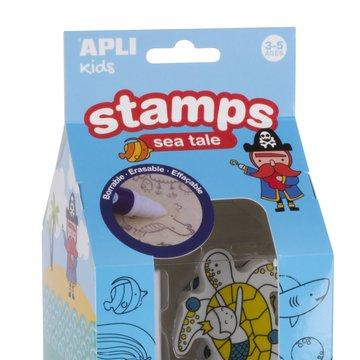 Stempelki z markerem Apli Kids - Ocean 3+