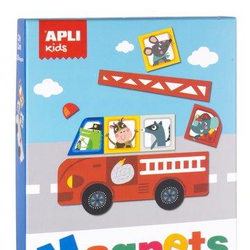 Magnetyczna układanka Apli Kids - Pojazdy