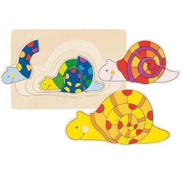 Goki® - Układanka warstwowa wzór Ślimak, Goki 57898