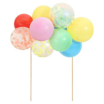 Meri Meri - Topper na tort Balony tęczowe
