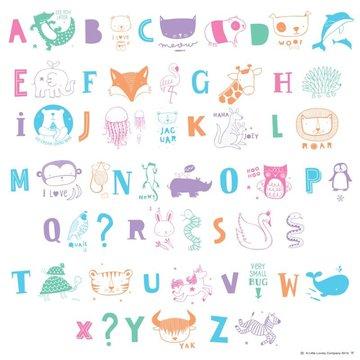 A Little Lovely Company - Litery do Lightboxa zestaw ABC Pastel