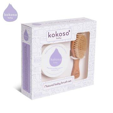 Kokoso Baby Brush Set zestaw prezentowy Niemowlak Bez Ciemieniuchy KOKOSO Baby