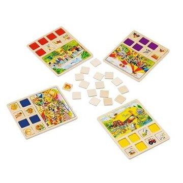Goki® - Układanka pamięciowa typu memo, gra logiczna, Goki 56740