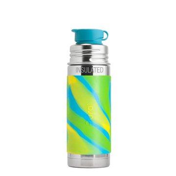 Termobutelka 260 ml, błękitna swirl, Pura Kiki