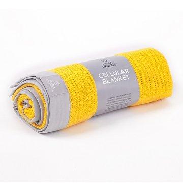 Mama Designs Kocyk Tkany Yellow Grey 70x90