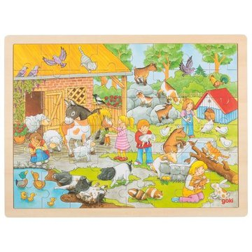 Goki® - Drewniane Puzzle Farma 24 el., Goki