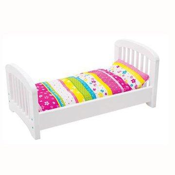 Goki® - Drewniane łóżeczko z pościelą, Goki 51596