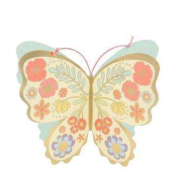 Meri Meri - producent niezdefiniowany - Kartka okolicznościowa 3D Motyl kwiatow