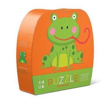 Crocodile Creek® - Puzzle 12 el., Głodna żaba, Crocodile Creek