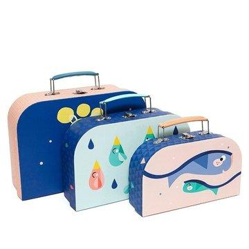 Petit Monkey - 3 Księżycowe walizeczki świecące w ciemności