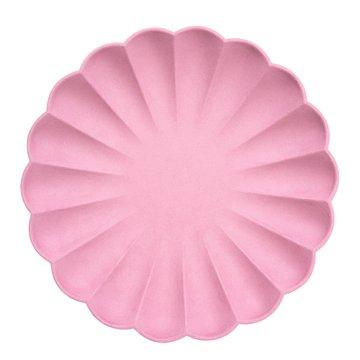 Meri Meri - Duże talerzyki Simply Eco Różowe