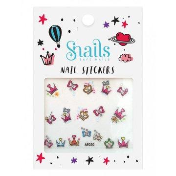 Naklejki na paznokcie dla dzieci Snails - Perfect Princess
