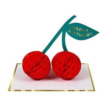 Meri Meri - Kartka okolicznościowa 3D Wisienki