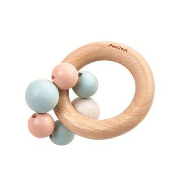 Drewniana pastelowa grzechotka, koraliki | Plan Toys