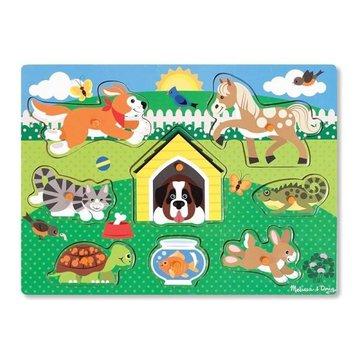 Melissa&Doug® - Melissa and Doug, Drewniane Puzzle Zwierzątka