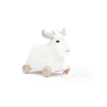 Kids Concept Edvin Łoś do Ciągnięcia White