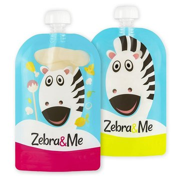 Zebra & Me CHEF - 2 PACK Saszetki do karmienia wielorazowe