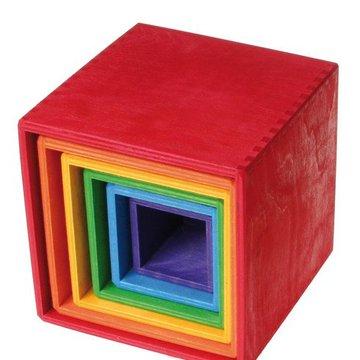 Drewniane Pudełka 0+, tęczowe, Grimm's