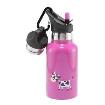 Carl Oscar TEMP Bottle - Butelka termiczna ze słomką ze szlachetnej stali nierdzewnej Purple - Cow CARL OSCAR