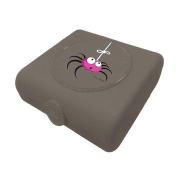 Carl Oscar Kids Sandwich Box Pojemnik na przekąski i kanapki Grey - Spider CARL OSCAR