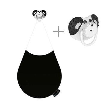Dumforter 3in1 smoczek z gryzakiem + kocyk przytulanka Panda Pepper