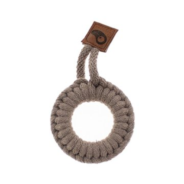 Hi Little One - gryzak sznurkowy Ring Teether wood and cotton Dark Oak