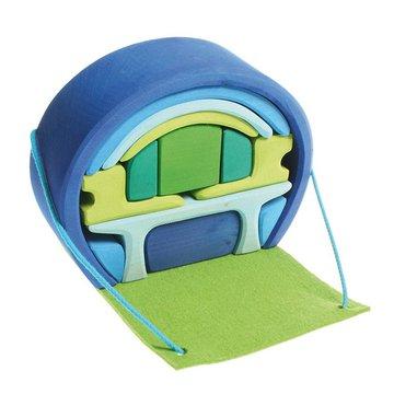 Dom mobilny, niebiesko-zielony, Grimm's