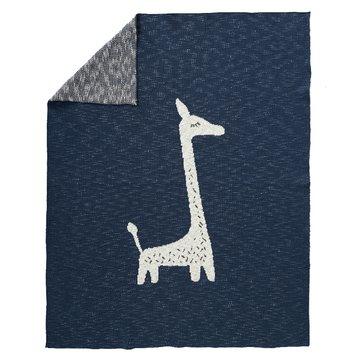 Fresk Tkany kocyk z bawełny organicznej 100 x 150 cm Żyrafa FRESK