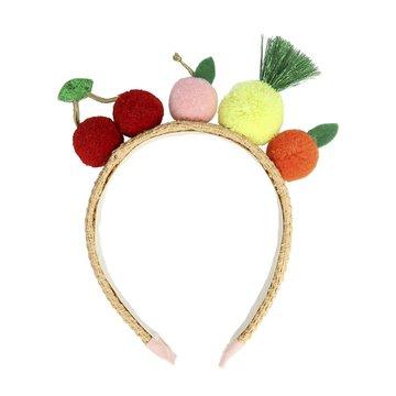 producent niezdefiniowany - Opaska do włosów Owoce-pompony