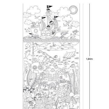 Gigantyczny plakat do kolorowania Apli Kids - Morska przygoda