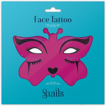 Naklejki na twarz Face Tattoo Snails - Midnight Cat
