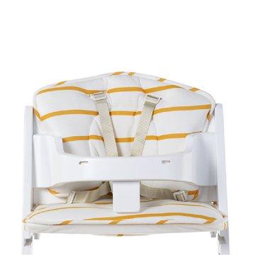 CHILDHOME - Ochraniacz do krzesełka Lambda Jersey Ochre Stripes