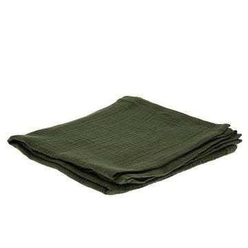 Hi Little One - Oddychający otulacz muślinowy 100 x 100 muslin swaddle Green Hunter