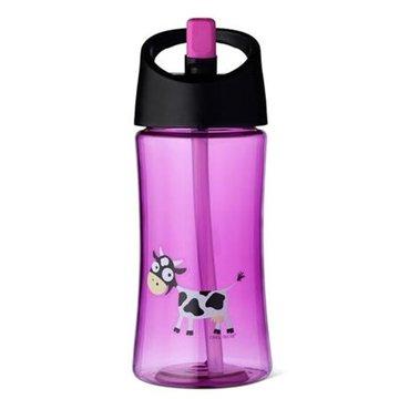 Carl Oscar Transparentny bidon ze słomką 350 ml Purple - Cow CARL OSCAR