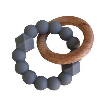 Jellystone Designs - Gryzak dla dziecka, drewno i silikon, szary, Jellystone Design