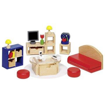 Goki® - Pokój dzienny - mebelki do domku dla lalek, GOKI-51749