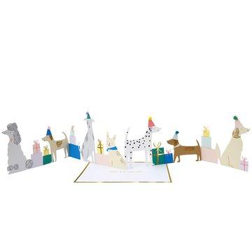 Meri Meri - Kartka okolicznościowa 3D Psia impreza