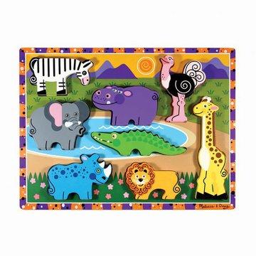 Melissa&Doug® - Melissa, Układanka drewniana – Zwierzaki safari