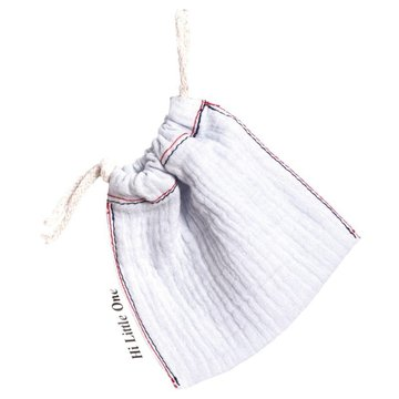 Hi Little One - woreczek na smoczek muslin pacifers bag White