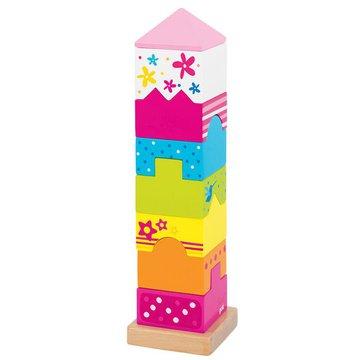 Goki® - Drewniana układanka na patyku Bajkowa wieża, Goki