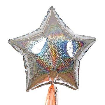 Meri Meri - Zestaw balonów Gwiazda srebrna