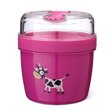 Carl Oscar- N'ice Cup™ L Pojemnik śniadaniowy z wkładem chłodzący Purple - Cow CARL OSCAR