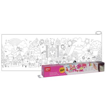 Kolorowanka w rolce 4 metry Apli Kids - Słodki świat