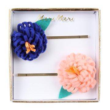 Meri Meri - Wsuwki do włosów Kwiaty filcowe
