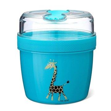 Carl Oscar- N'ice Cup™ L Pojemnik śniadaniowy z wkładem chłodzący  Turquoise - Giraffe CARL OSCAR