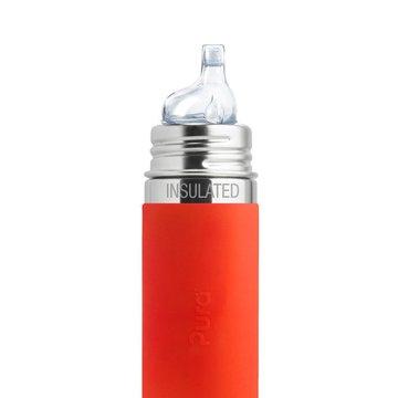 Termobutelka z ustnikiem niekapkiem i pomarańczową osłonką 260 ml, Pura Kiki