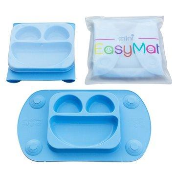 EasyTots - EasyMat Mini 2in1 BLUE silikonowy talerzyk z podkładką - lunchbox EASYTOTS