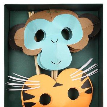 Meri Meri - Maski Zwierzęta Dżungla